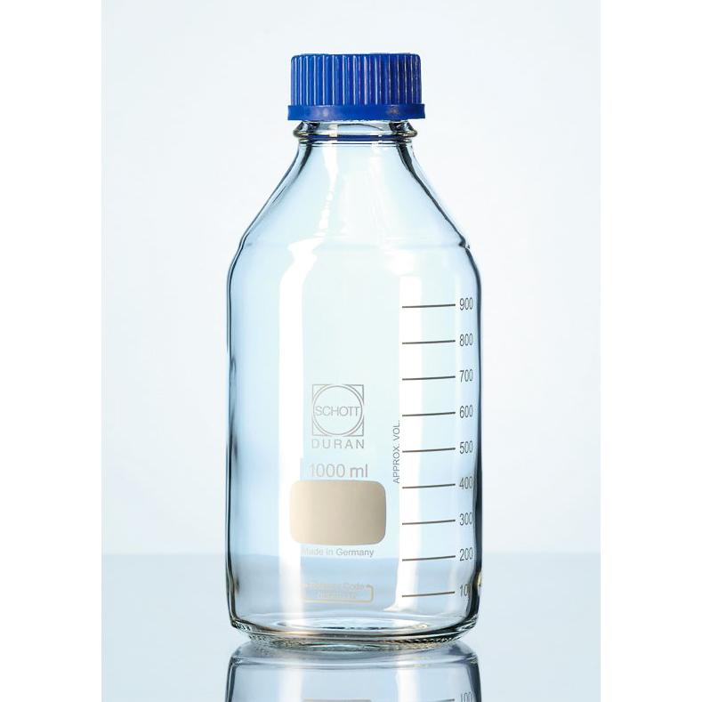 Schott Duran® 透明玻璃血清瓶(藍蓋)